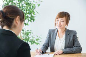 就職活動への不安を相談する人